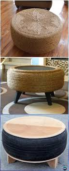 recycled furniture diy. DIY Rope Tire Table Instructions - Old Furniture Ideas Recycled Diy I