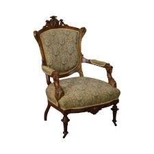 Antique John Jelliff Victorian Renaissance Carved Walnut Arm Chair |  Chairish