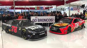 Furniture Row Racing Cheers for the Denver Broncos