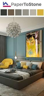 Bedroom Color Palette   Black Dark Arctic Blue Gamboge Light Amber Light