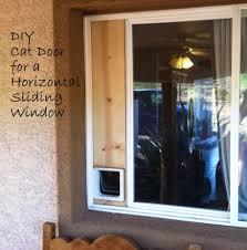 cat door horizontal sliding window