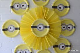 Paper Puff Ball Decorations Beauteous Minion Paper Puff Ball Decoration And Plates Pictures Photos And