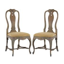 weathered french blue dining chairs pair