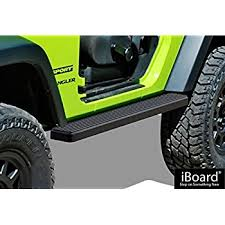 aps iboard running boards 4 matte black custom fit 2007 2018 jeep wrangler jk