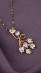 Diamond Gold Locket Designs Azva Modern 18k Gold Floral Pendant With Diamonds Gold