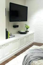 wall mounted flat screen cabinet toilet standard small room ideas mount kids decals tv over fireplace