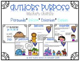 Authors Purpose Easy As Pie Anchor Charts