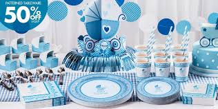 Blue Stroller Baby Shower Party Supplies  50% off Patterned Tableware ...