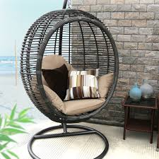 swing chair with stand baner garden swing chair with stand reviews wayfair style