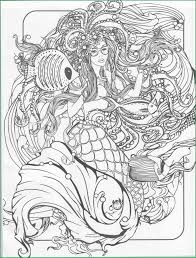 Mermaid Coloring Pages For Adults Printable Luxury Adult Ariel