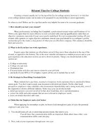 What To Include In A College Resume Twnctry