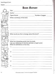writing book report forms free book cover template for kids