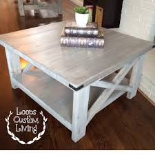 coffee table white washed grey industrial square coffee table diy