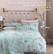 beautiful birds duck egg duvet cover and pillowcase set from 18