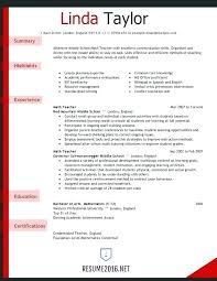 Objective For Teacher Resume Resume Of English Teacher Example Teacher Resume Style Career 60