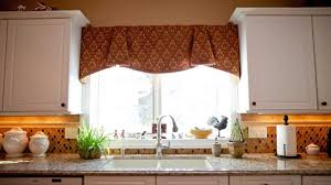 Kitchen Window Valances Kitchen Amazing Kitchen Valance Curtain Ideas With Beige