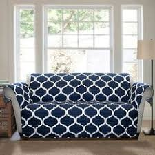 couch covers blue. Fine Couch Sure Fit Ticking Stripe One Piece Sofa Slipcover   Home Sweet  Pinterest Slipcovers Living Rooms And Apartments On Couch Covers Blue A