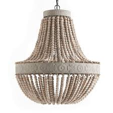 beaded wood chandelier wooden chandeliers design amazing black