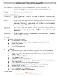 Resume For Office Manager Position Office Manager Job Description For Resume Five Things To