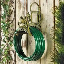 cast iron frog garden hose holder