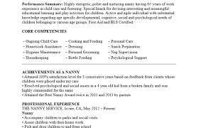 Sample Resume For Nanny Project Coordinator Resume Examples