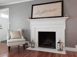 white painted fireplace tile