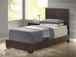 Global Bedroom Furniture Furniture 8103 Twin Pu Bed In Brown