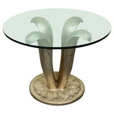 glass form furniture. beautiful center table with a carved leafform base and glass top 1 form furniture