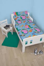 peppa pig george roar toddler rotary junior cot bed duvet quilt cover set 5055285375409