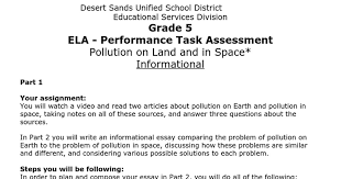 sample of a th grade writing performance task google docs