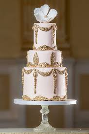 20 magnificent gold wedding cakes