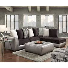 grey sectional couches. Plain Sectional Shimmer Pewter Microfiber Silver Grey Sectional Sofa And Ottoman Throughout Couches 3