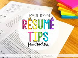 How To Write A Resume For Teaching Job Best of Résumé Writing For Teachers Adventures Of A Schoolmarm