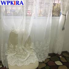white european embroidered sheer curtains for living room window curtains for the bedroom lace luxury embroidery