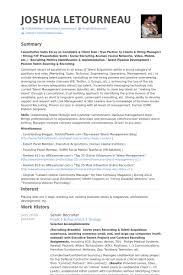 Senior Recruiter Resume Samples Visualcv Resume Samples Database