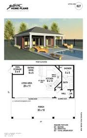 Energy Efficient With Indoor Pool  16709RH  Architectural Pool House Floor Plans