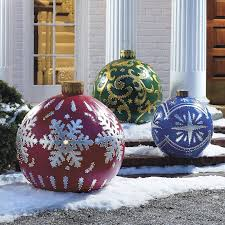Decorating With Christmas Balls Interesting Top Outdoor Christmas Decorations Ideas Christmas Celebration