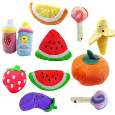 <b>1PC</b> New Plush Sound Cute Fruits Vegetables <b>Dog Toys Pet</b> Chew ...
