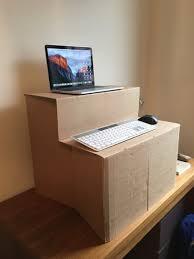 diy standing desk make your own cardboard standing desk mac standing desks