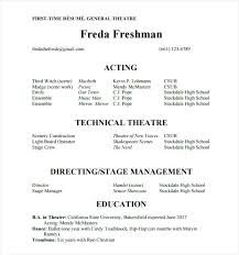 High School Theatre Resume Template Best of Theatre Resume Template Example Acting Resume Creative Theatre