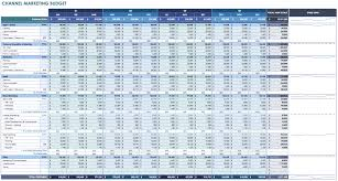 Excel Templates For Budgeting 12 Free Marketing Budget Templates