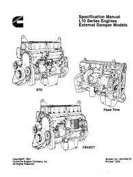 cummins l10 specs manuals and bolt tightening torques cummins l10 specifications manaul p1