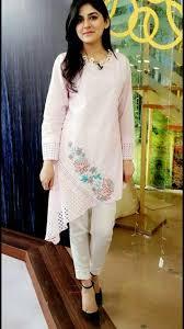 Pakistani Silk Kurtis Designs Beautiful Asymetric Silk Kurti With Beautiful Embroidery