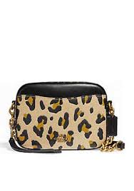 COACH Leopard Camera Crossbody Bag ...