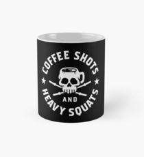 coffee shots and heavy squats mug
