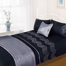 sparkle black complete bedding set