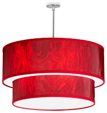 drum shade pendant lighting. 6light red ice drum shade pendant contemporarypendantlighting lighting x