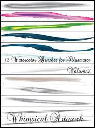 Free 12 Watercolor Art Brushes Vol2