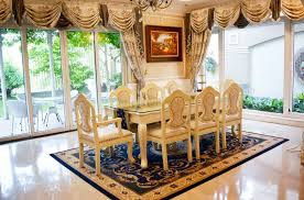 big garden villa with royal style furniture for