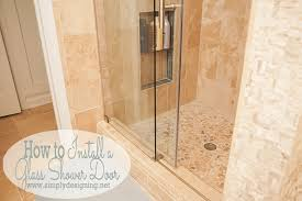 how to install a glass shower door